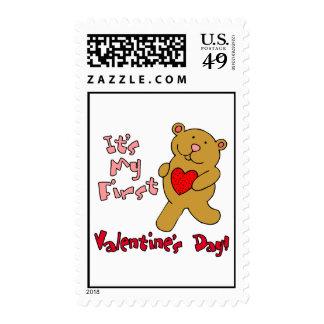 1r Día de San Valentín Sello Postal