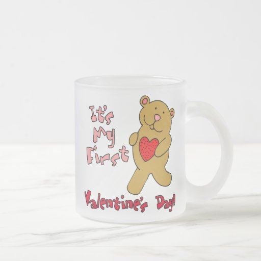 1r Día de San Valentín Taza De Café Esmerilada