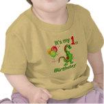 1r Dinosaurio del cumpleaños Camisetas