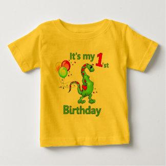1r Dinosaurio del cumpleaños Playeras