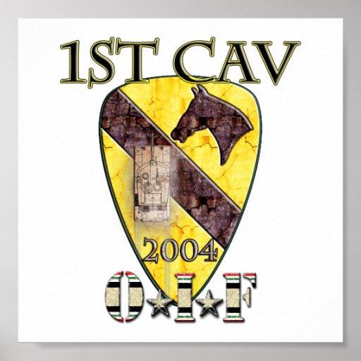 1r División 2004 OIF de la caballería Póster