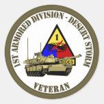 1r División acorazada [1r ANUNCIO] Pegatina Redonda