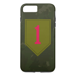"""1r División de infantería """"el rojo grande uno """" Funda iPhone 7 Plus"""