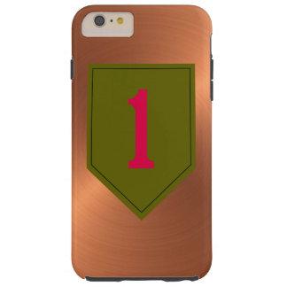 """1r División de infantería """"el rojo grande uno """" Funda Para iPhone 6 Plus Tough"""