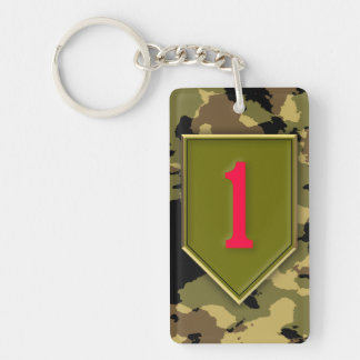 1r División de infantería Llavero Rectangular Acrílico A Doble Cara