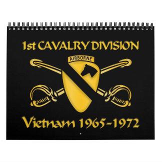 1r DIVISIÓN de la CABALLERÍA, GUERRA de VIETNAM Calendarios