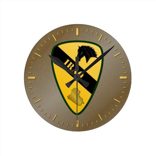 1r División de la caballería, Iraq Reloj Redondo Mediano