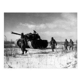 1r División de Marina que se mueve con el Chosin Tarjetas Postales