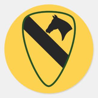 1r División del Calvary Pegatina Redonda