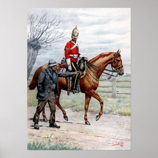 1r Dragoons reales Posters