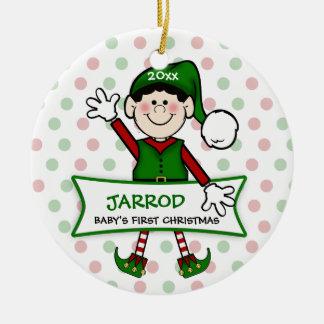 1r duende (negro) Boy2 del navidad del bebé Adorno De Navidad