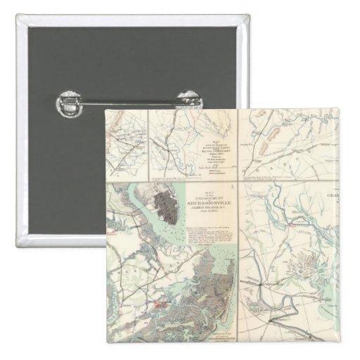 1r Ejército del cuerpo de Virginia Secessionville Pins