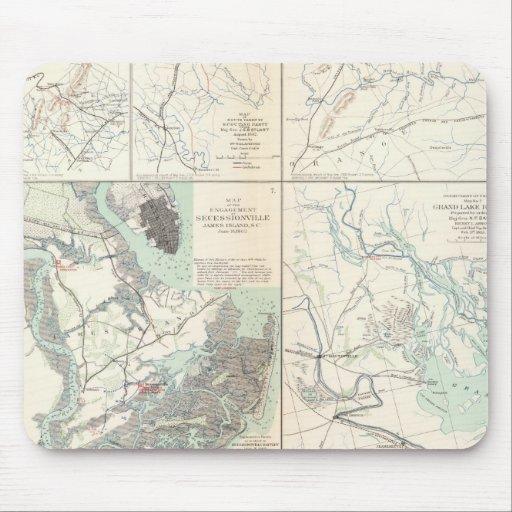 1r Ejército del cuerpo de Virginia Secessionville Alfombrilla De Raton