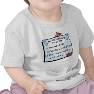 1r El cumpleaños hizo el azul Camisetas