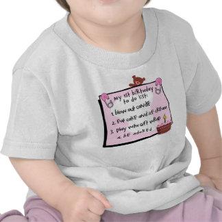 1r El cumpleaños hizo rosa Camiseta
