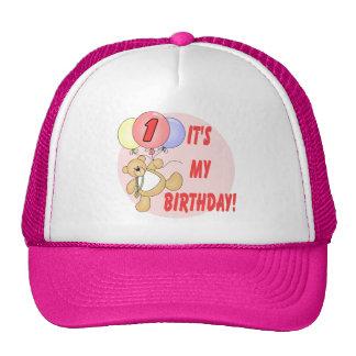 1r El cumpleaños lleva cumpleaños Gorras