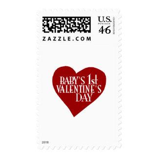 1r el día de San Valentín del bebé Sellos