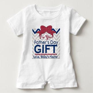 1r El regalo del día de padre es bebé que la mamá Remera