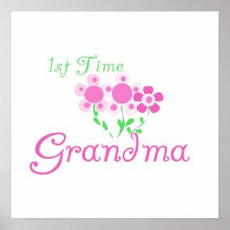1r El rosa de la abuela del tiempo florece los reg Póster