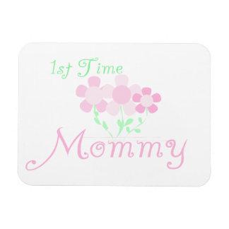 1r El rosa de la mamá del tiempo florece los regal Imán Rectangular