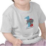 1r Elefante del circo del cumpleaños Camiseta