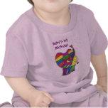 1r elefante del cumpleaños de la niña camisetas