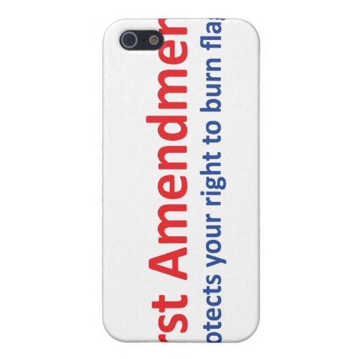 1r Enmienda: protege la su derecha de quemar bande iPhone 5 Protectores