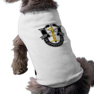 1r Escudo del grupo de las fuerzas especiales Playera Sin Mangas Para Perro