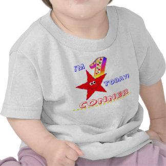 1r Estrellas rojas del smiley de la camisa de la f