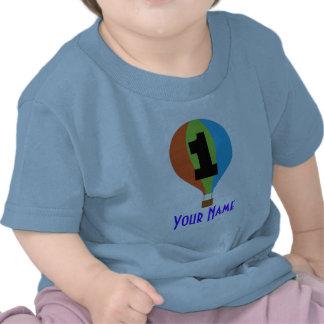 1r Globo del aire caliente del cumpleaños Camiseta