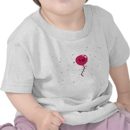 1r globo del cumpleaños camisetas