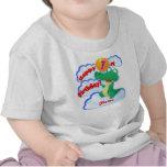 1r globo feliz del cocodrilo del cumpleaños camiseta