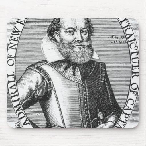 1r gobernador de capitán John Smith de Virginia Alfombrilla De Raton
