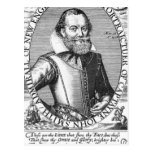 1r gobernador de capitán John Smith de Virginia Tarjeta Postal