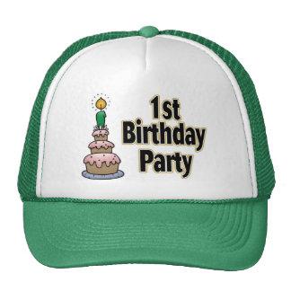 1r gorra de la fiesta de cumpleaños