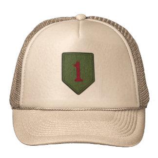 1r gorra del remiendo de los veterinarios de los v