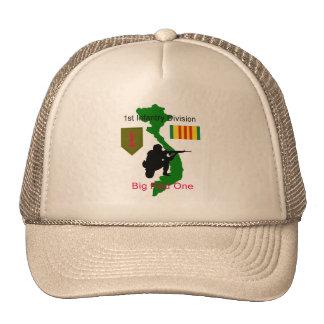 1r Gorra grande del veterinario de Vietnam del roj