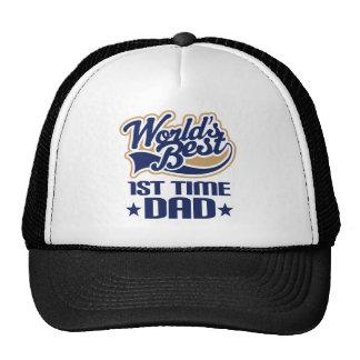 1r Idea del regalo del papá del papá del tiempo nu Gorra