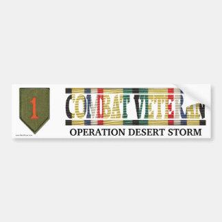1r Infantería Div. Pegatina del veterano del comba Pegatina Para Auto