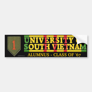 1r Infantería Div. - U del pegatina de Vietnam del Pegatina De Parachoque