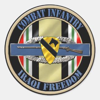 1r Infantería OIF de la división de la caballería Pegatina Redonda