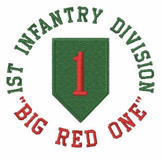 """1r Infantería """"rojo grande uno """" Camiseta Polo"""