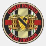 1r Ingeniero de división de la caballería OIF Pegatinas Redondas