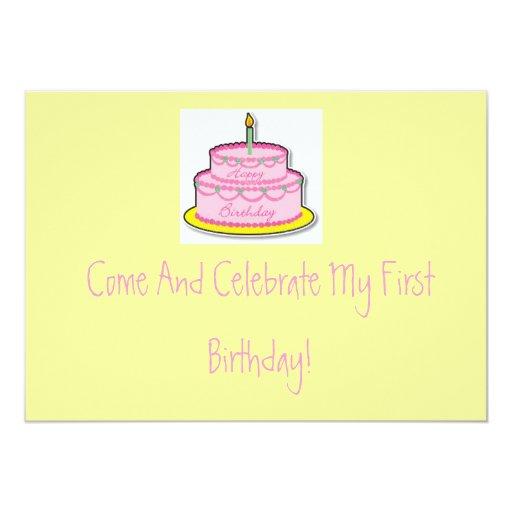 1r Invitación del cumpleaños