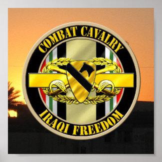 1r La caballería de división de la caballería expl Póster