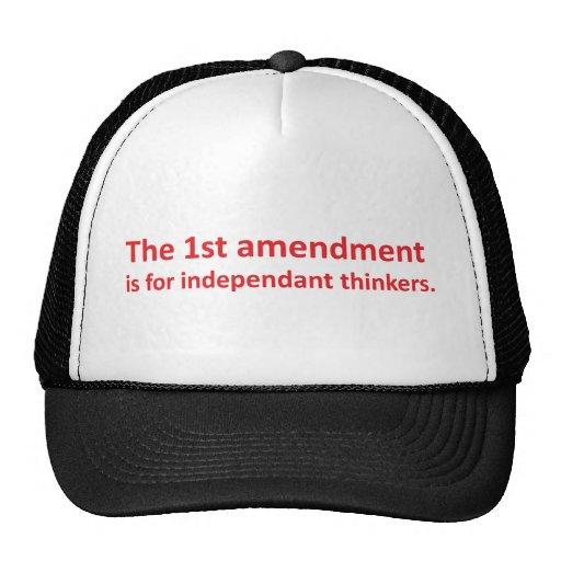 1r La enmienda está para los pensadores independie Gorros Bordados