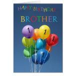 1r La tarjeta de cumpleaños coloreada hincha Broth