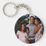 1r llavero de la familia de presidente Obama