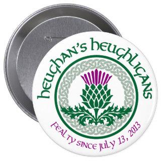 1r Logotipo del aniversario HH Pin Redondo De 4 Pulgadas
