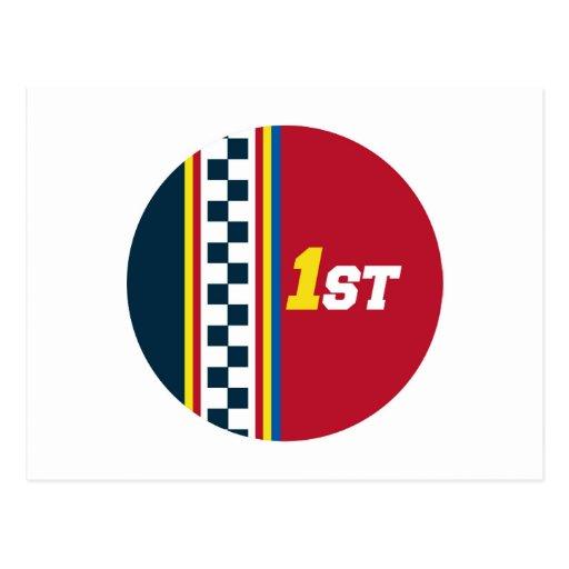 1r lugar - pole position tarjetas postales